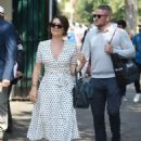Candice Brown and fiance Liam Macaulay – Arriving at Wimbledon Tennis Tournament in London - 454 x 628