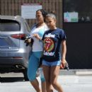 Christina Milian in Shorts – Out in Studio City - 454 x 587