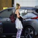 Margot Robbie in Leggings – Leaving the gym in Los Angeles