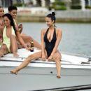 Draya Michele in Black Swimsuiti in Newport Beach - 454 x 436