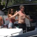 Brooke Burke in Pink Swimsuit – Celebrates her birthday on a yacht in Miami - 454 x 333