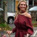Christine McGuinness in Red Mini Dress – Out in Cheshire - 454 x 713