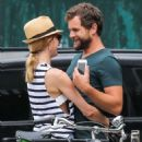 Couple Diane Kruger and Joshua Jackson spotted out and about in New York City, New York on July 8, 2015 - 454 x 590