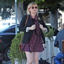 Kirsten Dunst in Mini Dress – Out in Toluca Lake