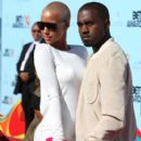Kanye West and Amber Rose arrive at the 2009 BET Awards held at the Shrine Auditorium in Los Angeles, California - June 28, 2009 - 407 x 594
