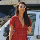 Shay Mitchell – In Red Dress out and about in NYC