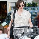 Milla Jovovich Takes A Trip To The Market