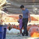 Olivier Martinez takes Nahla to a pumpkin patch on October 8, 2013