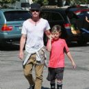 Gavin Rossdale takes his son Kingston to his soccer game in Sherman Oaks, California on April 12, 2015 - 454 x 556