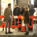 Emilia Clarke – On the set of 'Last Christmas' in London