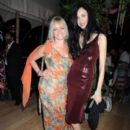 Jo Wood and L'Wren Scott attend the wedding reception of Leah Wood and Jack MacDonald at Holm Wood on June 21, 2008 in London, England - 395 x 594