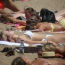 Lottie Moss in Bikini at the beach in Barcelona