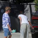 Lena Headey – Fender-bender candids on Ventura Blvd in Encino