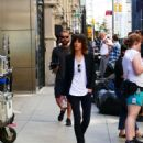 Katherine Moennig and Liev Schreiber – Filming 'Ray Donovan' in NYC - 454 x 508