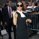 Salma Hayek: at ABC Studios in New York City