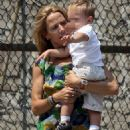 Sheryl Crow And Son Wyatt Steven Seen Sharing A Hug Out In The East Village, NYC. USA., 2008-07-28