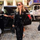 Jennifer Lopez in Black Sequin Jumpsuit in New York City