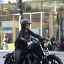 Halle Berry – Ride Harley Davidson bike in Beverly Hills - 454 x 681