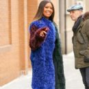 Gabrielle Union is seen wearing a multi-colored fur coat while leaving 'The View' in New York City, New York on January 10, 2017 - 397 x 600