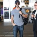 'Gossip Girl' actor Chase Crawford arriving on a flight at LAX airport in Los Angeles, California on August 23, 2013