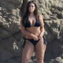Ashley Graham in Bikini – On a Photoshoot on the beach in Malibu - 454 x 681