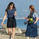 Jennifer Garner – Fashion photoshoot candids on the beach in Santa Barbara