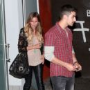 Joe Jonas was spotted out with Renee Bargh at Susan Feniger's Street restaurant for dinner last night, August 11, in Los Angeles - 454 x 726
