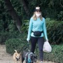 Courtney Thorne-Smith – Out for a dog walk in Brentwood - 454 x 557