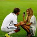 Mario Götze and Ann-Kathrin Kiss World Cup Final 2014