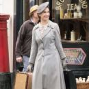 Lily James on set of 'Gurnsey' in London May 7, 2017 - 454 x 681