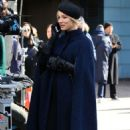 Kaley Cuoco – spotted fliming of 'The Flight Attendant' in NYC