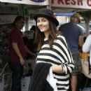 Victoria Justice Farmers Market In Studio City