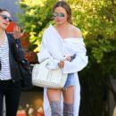 Chrissy Teigen seen leaving a spa in West Hollywood, California on March 31, 2017 - 398 x 600
