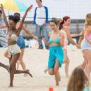 Chloe Bennet in Bikini on 'Valley Girl' set in LA - 454 x 303