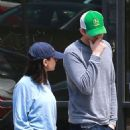 Mila Kunis and Ashton Kutcher – Leaves Joans On Third in Studio City - 454 x 683