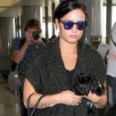 Demi Lovato Arriving At Lax In Los Angeles