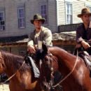 Scott Caan and Colin Farrell in Warner Brothers' American Outlaws - 2001