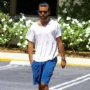 Scott Disick is spotted out for lunch at Lovi's Deli in Calabasas, California on June 30, 2016
