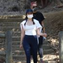 Ana De Armas – Showing kind of a baby bump while out for a hike in Hollywood