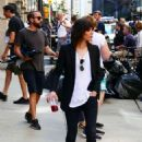 Katherine Moennig and Liev Schreiber – Filming 'Ray Donovan' in NYC