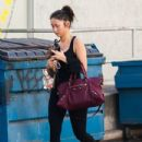 Brenda Song spotted leaving the gym in Studio City, California after a workout on January 3, 2014