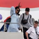 Priyanka Chopra and Nick Jonas – Arriving in the Caribbean - 454 x 397