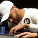 THE REAL DEAL? Neymar plays poker in Brazilian Series final during break following World Cup heartache