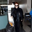 Julianne Moore: arrives at LAX