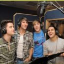 The boys of Big Time Rush spent today, September 14, lending their voices to an upcoming episode of The Penguins of Madagascar!
