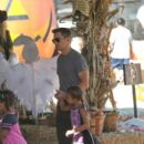 Olivier Martinez takes Nahla to a pumpkin patch on October 8, 2013