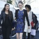 Coco Rocha: makes her way into the Herve Leger Fashion show in New York City