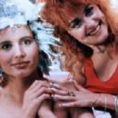 Geena Davis and Julie Brown in Earth Girls Are Easy (1988)