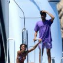 Willow Smith in Bikini on the yacht in Maddalena Archipelago - 454 x 681