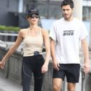 Georgia Fowler – With boyfriend Nathan Dalah out for a stroll